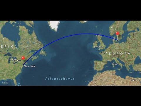 Business class SAS Scandinavian Airlines sk909 NEW CABIN Airbus A330-300 Copenhagen-Newark