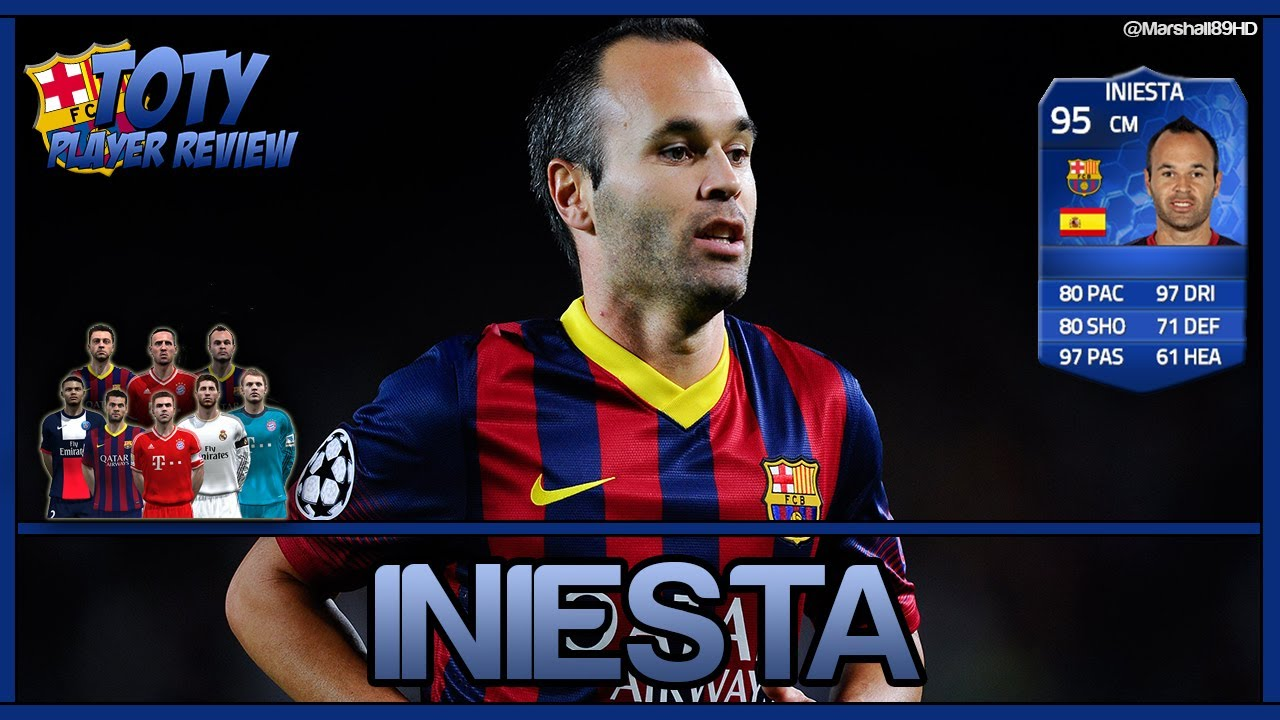 Iniesta Fifa 14 Card Fifa 14 ut Andres Iniesta