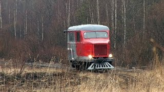 [TPR] PD1-353 narrow gauge draisine. Tyosovo peat narrow gauge railway