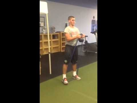 Anti flexion with band and kettlebell