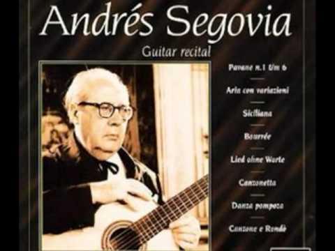 Mendelssohn - Andrés Segovia- Guitar Recital - String Quartet No 1 E flat major, Op.12