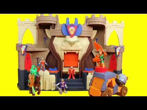 Imaginext Fisher Price Lion's Den Castle Knights Battle Ninja Warriors & DC Slade