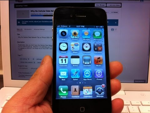 Why No Cellular Data Network Tab on iPhone 3GS 4 4S 5 iOS 6.0 6.0.1