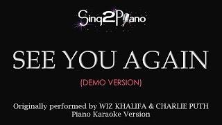 download lagu See You Again Piano Karaoke Demo Wiz Khalifa & gratis