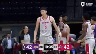 [中国篮球]送出大帽!周琦再战发展联盟砍23+8 暴扣加3分助毒蛇过关