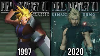 Final Fantasy VII [DEMO] Remake vs Original | Direct Comparison