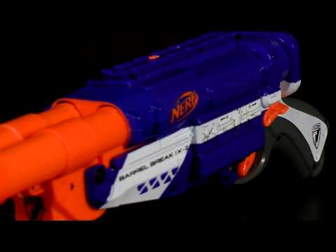 Nerf Elite Barrel Break IX-2 Review and Shooting