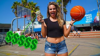 CHALLENGING STRANGERS to 3PT CONTEST PART 2 at VENICE BEACH!!