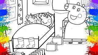 Desenholandia Pintando Desenho Peppa Pig Português Brasil | No Quarto da Peppa | Desenhos Animados
