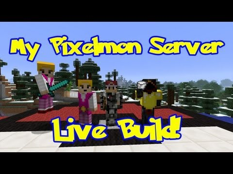 Pixelmon Server Pokeballers Live Build. Geodude Mountain Special! (1:08:50)