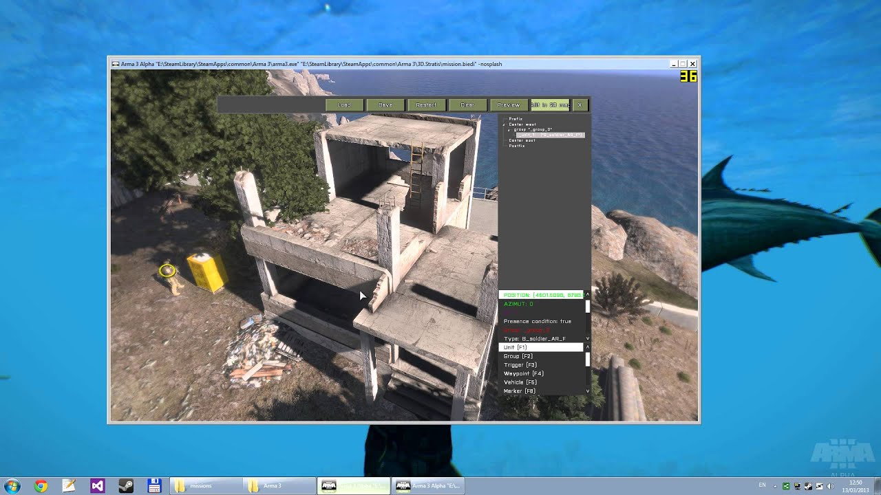 Arma 3 Alpha How To Access The 3d Editor Youtube
