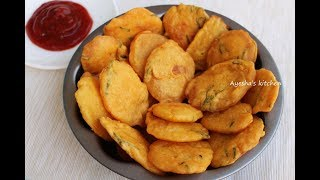 How to make potato pakoda - sliced potato baji