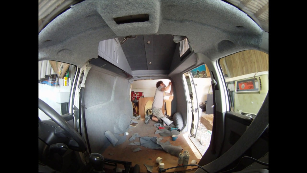 Carpet Lining A Vw T5 Camper Youtube