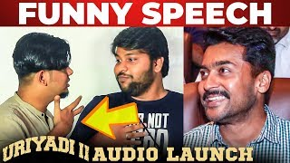 AUDIO LAUNCH Parithabangal' – Sudhakar Funny Speech at Uriyadi 2 Audio Launch