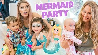5 YEAR OLD MERMAID BIRTHDAY PARTY (with real mermaid)