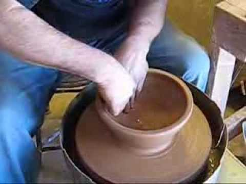 Pottery throwing demonstration