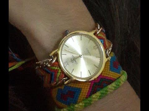 Reloj tejido - Hazlo con maria