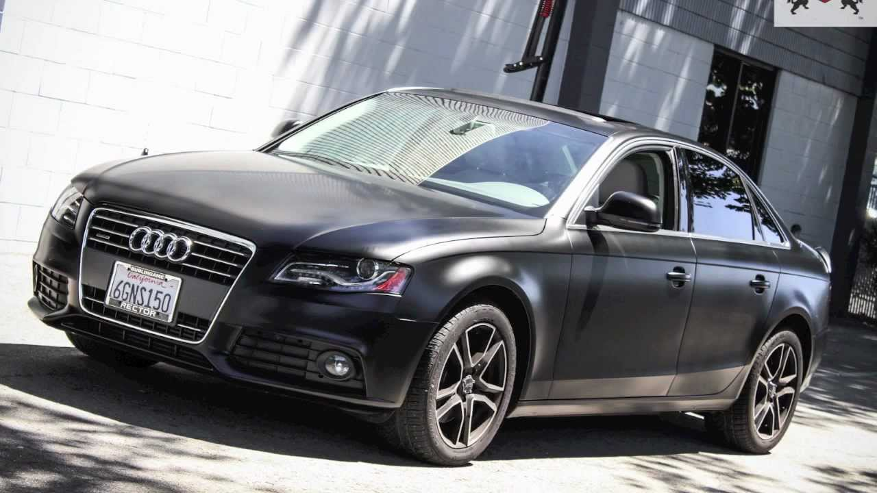 Ssc Audi A4 Satin Black Vinyl Wrap Youtube