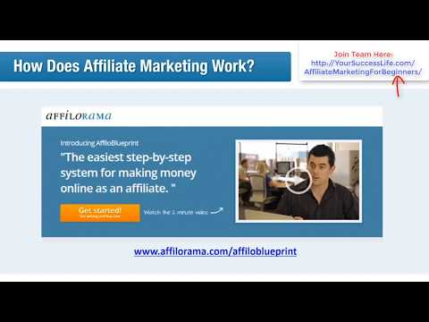 Affiliate Marketing For Beginners 1 - Make Money Online | How Does Affiliate Marketing Work?