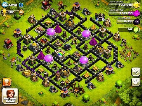 The BEST Defense Bases For Town Hall Level 6.7.8 and 9 - Clash Of Clans Defense Strategy