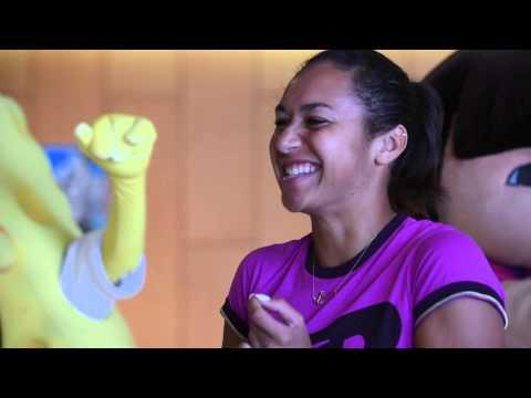 Heather Watson, Spongebob & a lot of Hot Shots - Hopman Cup 2015