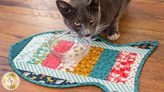 How to Make a Quilt As You Go Cat Placemat | A Shabby Fabrics Sewing Tutorial