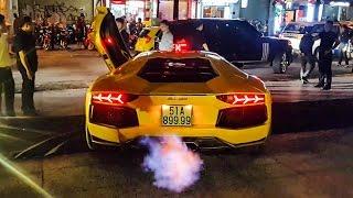 Lamborghini Aventador Gia Lai Team nẹt pô PHUN LỬA tại sự kiện của Minh Nhựa | XSX