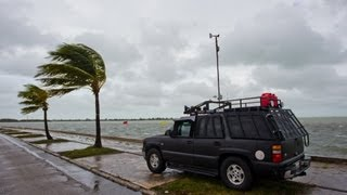Hurricane Isaac pounds Key West, Florida - August 27, 2012
