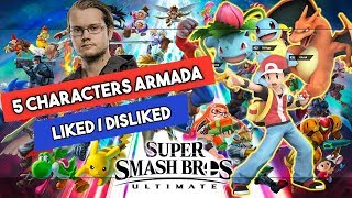 Five characters Armada liked and disliked in the new Super Smash Bros. Ultimate