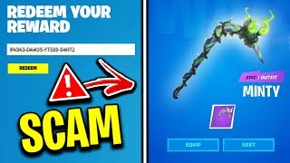"Watch This Before Redeeming The FREE ""Minty Pickaxe""! (Scam Alert)"