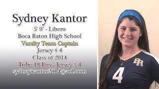 Sydney Kantor 2013 High School Volleyball Highlights