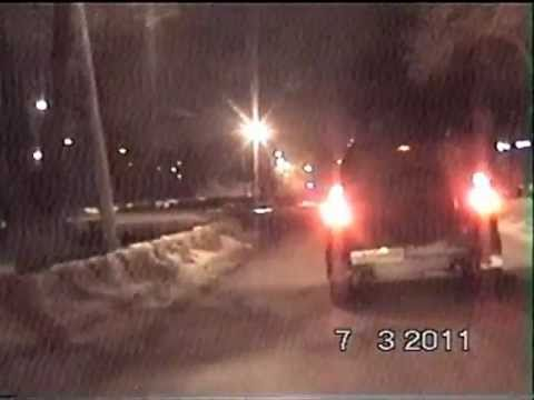 Police Chase in Russia - The suspect crashed into a raillroad crossing block (in the end)