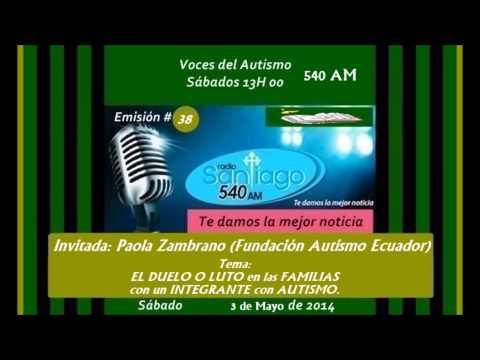 RADIO SANTIAGO P38:  EL DUELO O LUTO  en autismo x Paola Zambrano (Autismo Ecuador) al 2014.05.03.