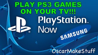 Play PS3 games on your Samsung or Sony Smart TV using PlayStation Now!