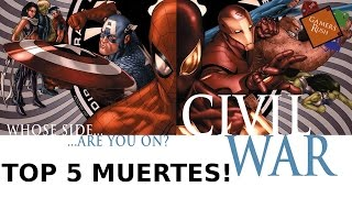 Top 5 - Muertes en Marvel Civil War!