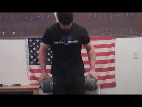 Grip Training - Hand Strength Endurance - Blob Holds for Time:  Winter Blob and Fatman Image 1