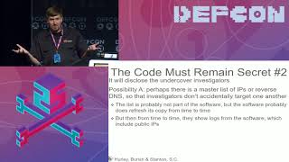 DEF CON 25 - Peyton Engel - Learning about Government Surveillance Software