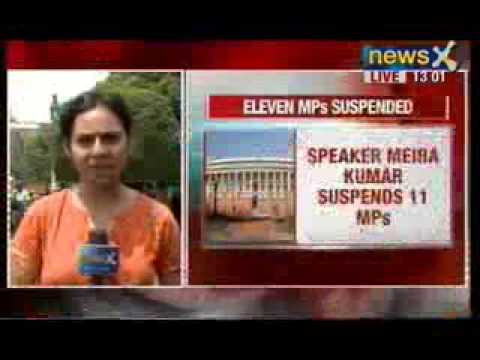 News X: Speaker Meira Kumar suspends 11 MPs