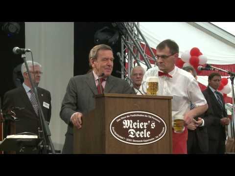 Gerhard Schröder auf dem Blasheimer Markt