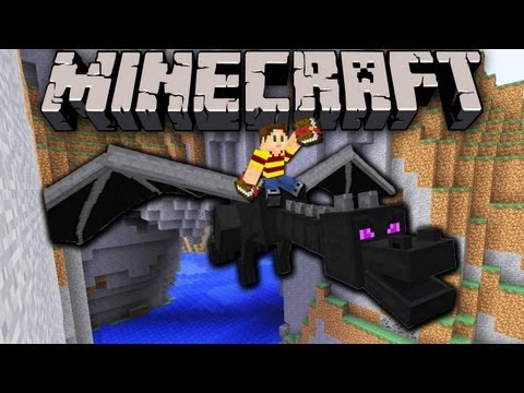 Minecraft 1.5.1 Snapshot: Dragon Griefing.