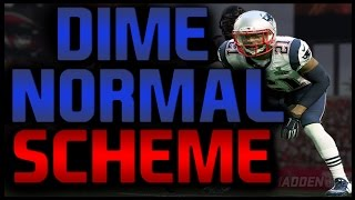 Madden 17: Dime Normal - FULL SCHEME! Most Popular Defenses & Blitzes! #MaddenBowl
