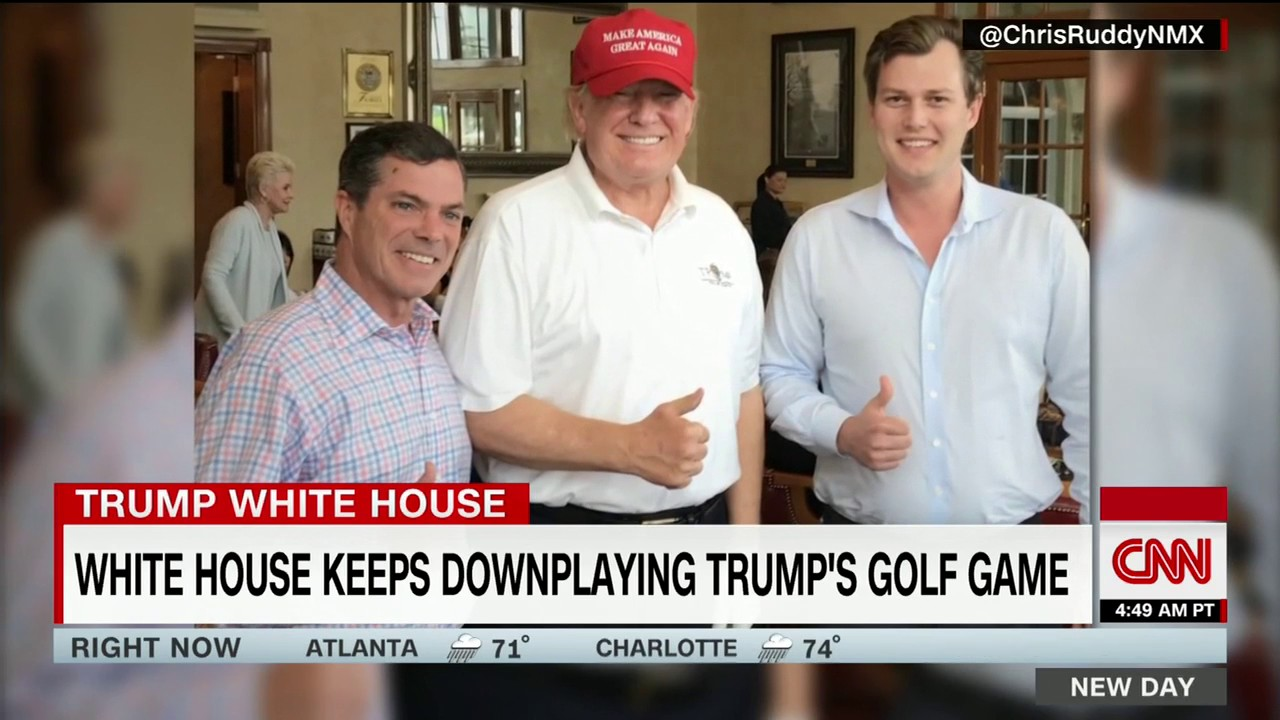 Trump hits the links on working vacation