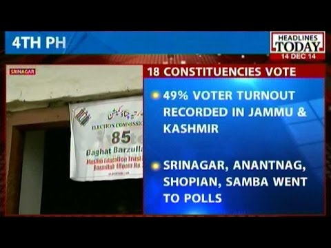 Jammu Kashmir: Voters defy cold weather and terror threat