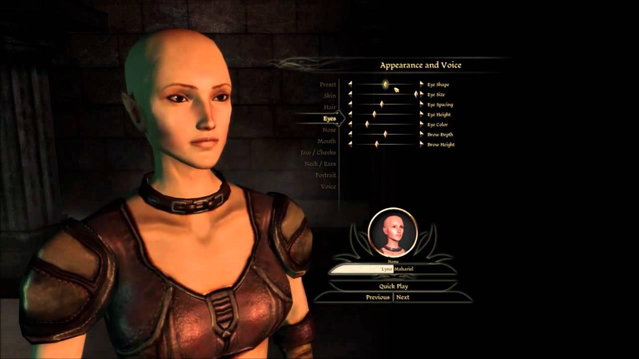 Dragon Age Origins Characters Creation Elf in Dragon Age Origin
