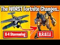 TOP 10 WORST FORTNITE UPDATES THAT BROKE THE GAME.