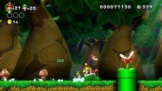 New Super Mario Bros. U - Jungle Cassis-1 - Mario, Luigi, dribbles et carapaces (Wii U)
