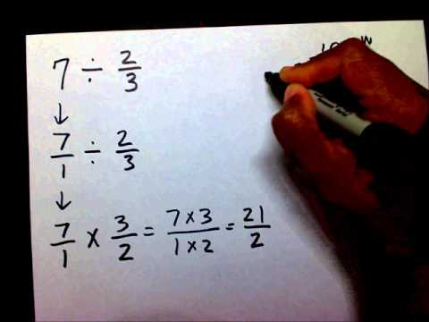 Divide Fractions With Whole Numbers - Mathwithmoon.org video