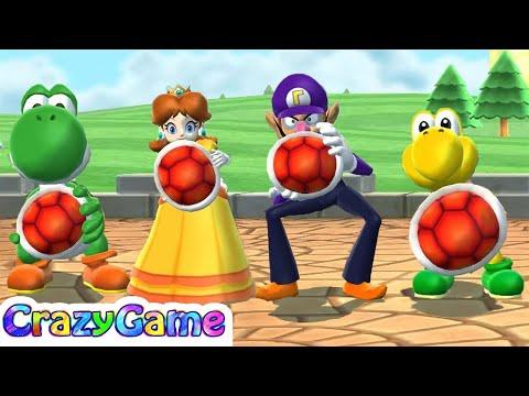 Mario Party 9 Goomba Bowling - Yoshi vs Daisy vs Waluigi vs Koopa Co-op 4 Player Gameplay 200 Point