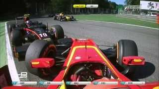 GP2 2015. Monza.  Rossi and Visou contact