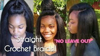 Straight Crochet Braids NEVER LOOKED SO NATURAL!! | TEEDAY6